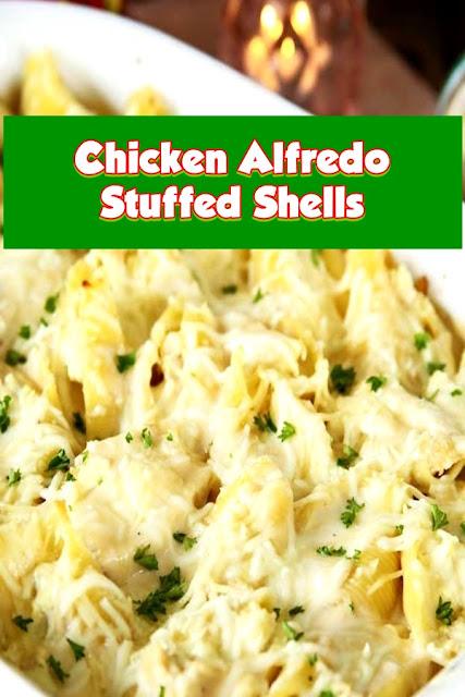 #Chicken #Alfredo #Stuffed #Shells