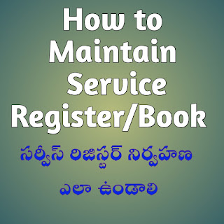 How to maintain leave account in service Book  Service Book pdf  E Service Register  Service book for Government Employees  Service Register of Government employee  Service Book after retirement  Teachers Service Book entries  Duplicate Service Book rules