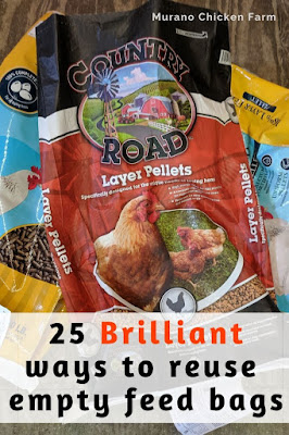 Feed bags to reuse. 25 ideas.