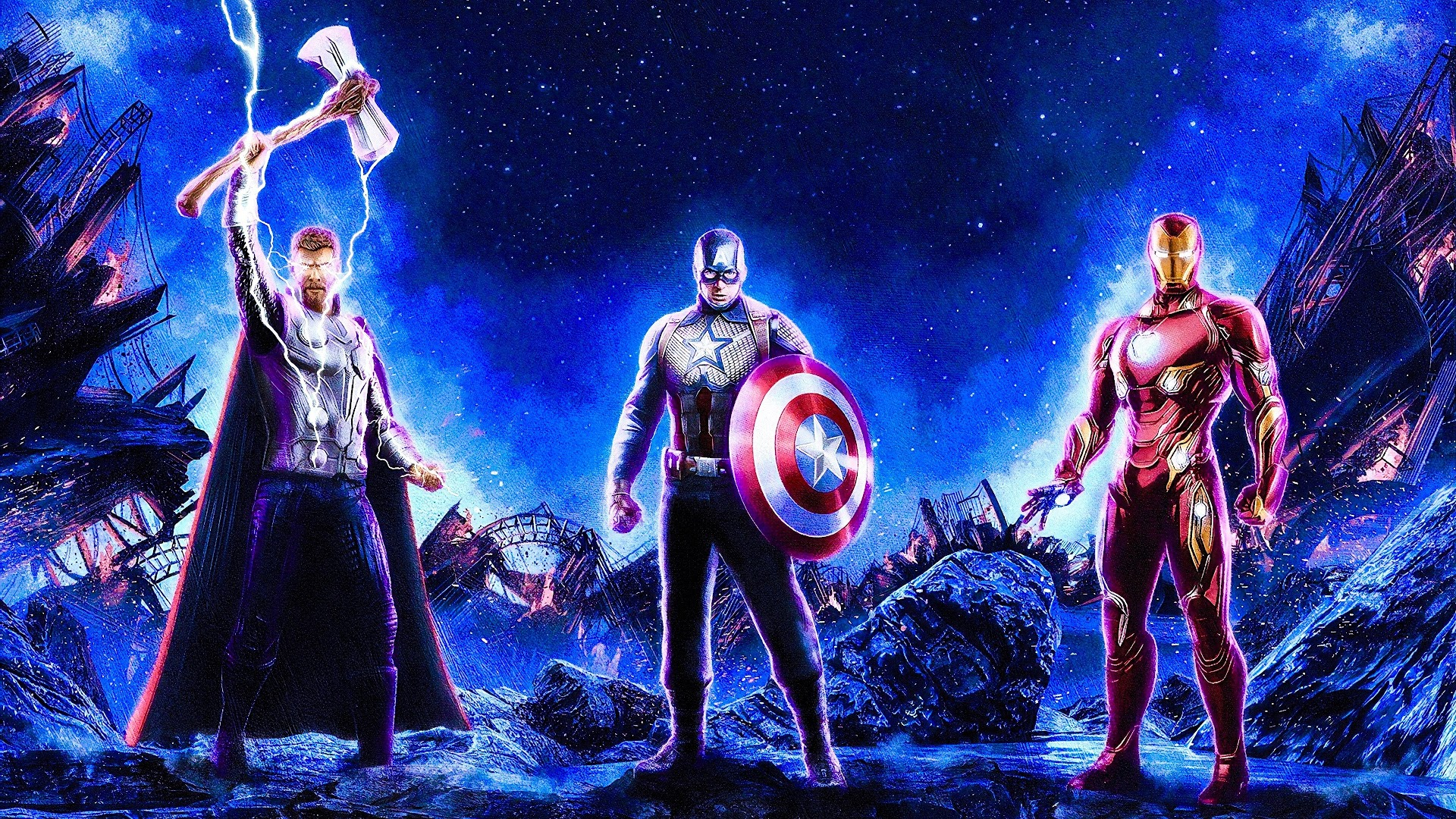 Avengers Endgame Thor Captain America Iron Man 4k Wallpaper