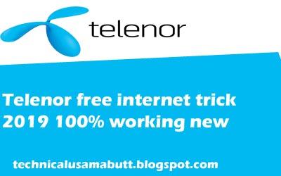 telenor free internet code 2019