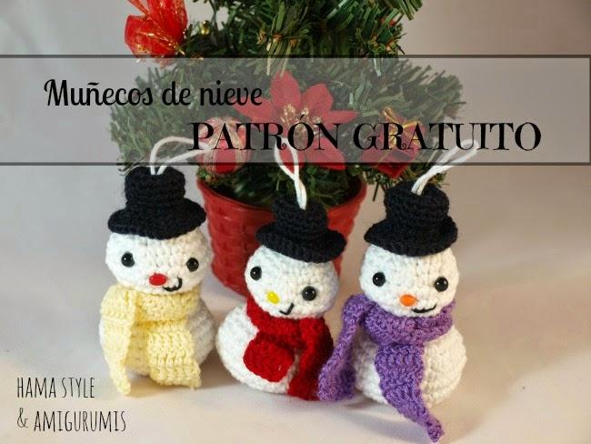 Marta Ruso Crochet Creativo: Muñeco de nieve amigurumi [PATRÓN GRATIS]