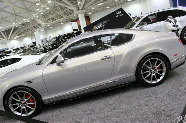 a silver Bentley at the Twin Cities Auto Show