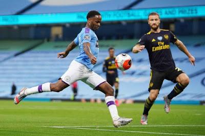 ملخص واهداف مباراة مانشستر سيتي وارسنال (3-0) الدوري الانجليزي