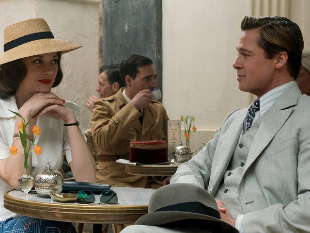 "Brad Pitt e Marion Cotillard in ""Allied"""