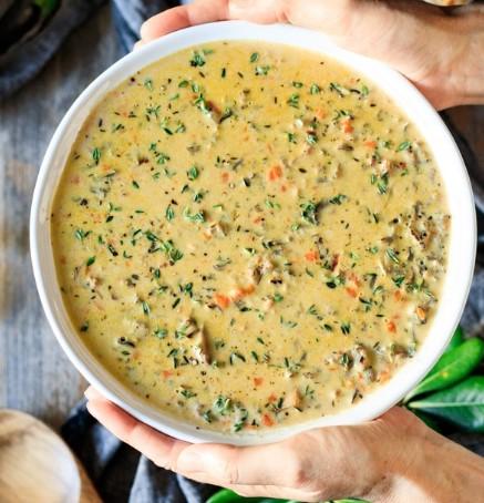 The Best Creamy Wild Rice Soup