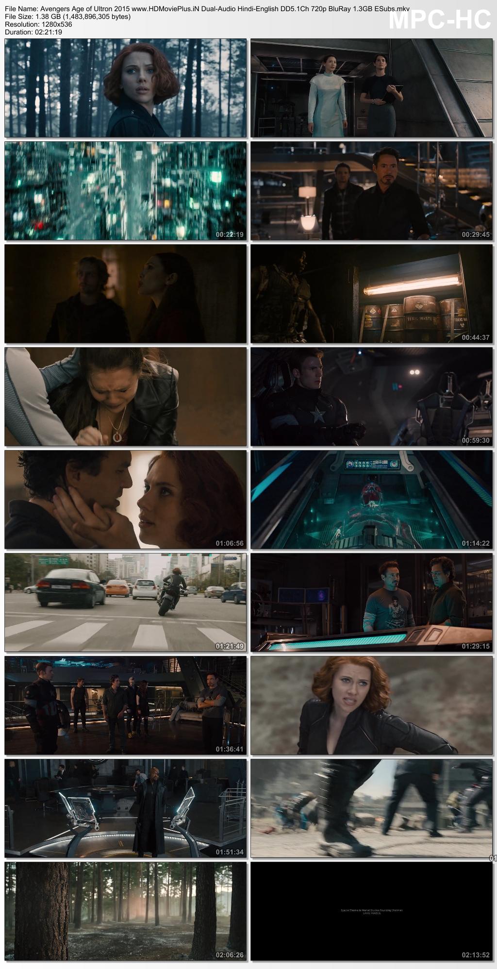Avengers: Age of Ultron 2015 Dual Audio
