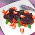 Čokoladni ravioli z jagodami