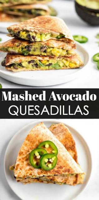 Mashed Avocado Quesadillas