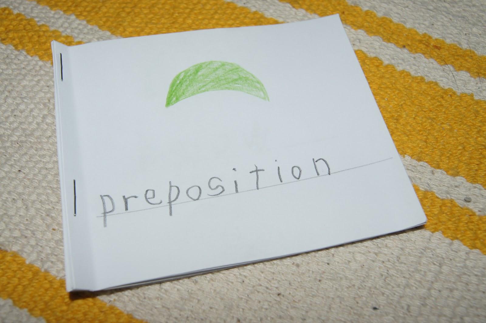 Preposition Introduction Montessori Grammar Amp Language At Home