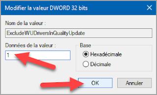 désactiver, arrêter, installation, mises à jour, automatique, pilote, driver, mise à jour Windows, Windows 10, base de registre, regedit.exe, administration, problème pilote