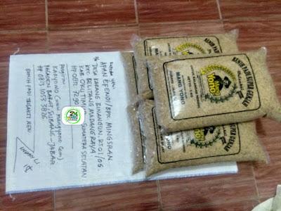 Benih padi yang dibeli AFAN EFENDI OKU Timur, Sumsel. (Sebelum packing karung ).