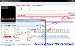 Cara Flash Xiaomi Mtk via Flashtool