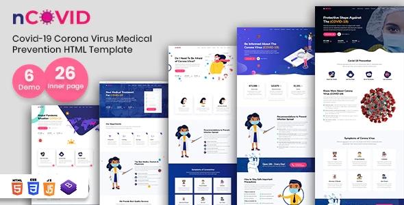 Coronavirus Medical Prevention HTML Template