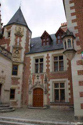 Facciata del maniero Le Clos Lucé di Amboise