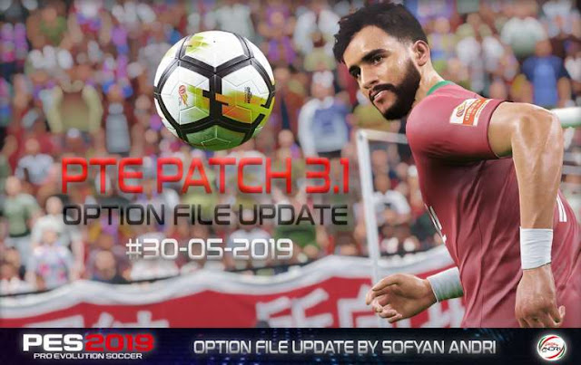 Option File Update For PTE Patch V3 1 #30-05-2019 - PES 2019 - PATCH