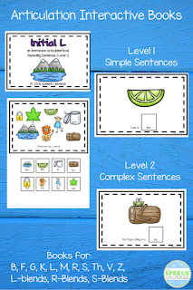 Interactive Articulation Books are a great way to target your speech and language students sound goals in words in isolation as well as simple and complex sentences.  Students of all ages love moving the pieces!