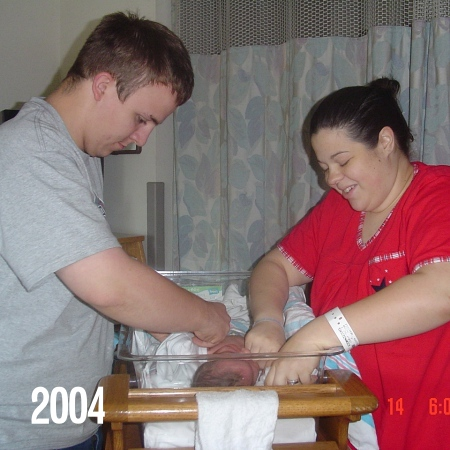 Just after Noah was born
