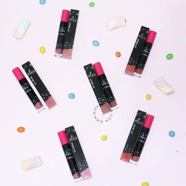 BARU! PIXY Lip Cream NUDE Review All Shades