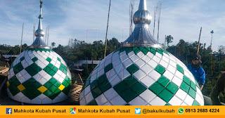 Pemasangan Kubah Masjid Enamel Karangreja - Purbalingga