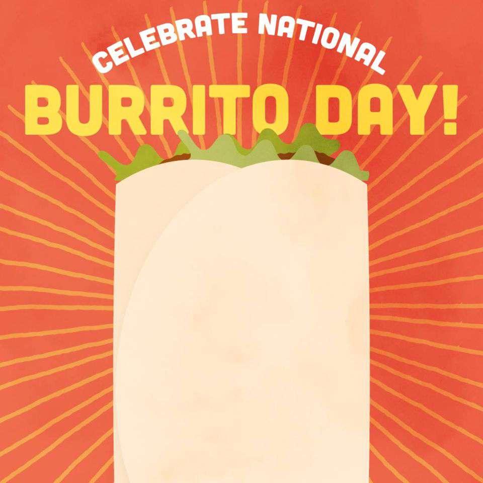 National Burrito Day Wishes Beautiful Image