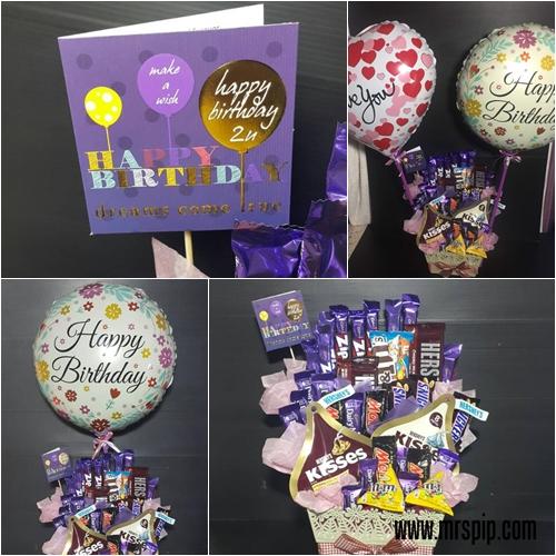 Chocolate bouquet untuk GF kesayangan