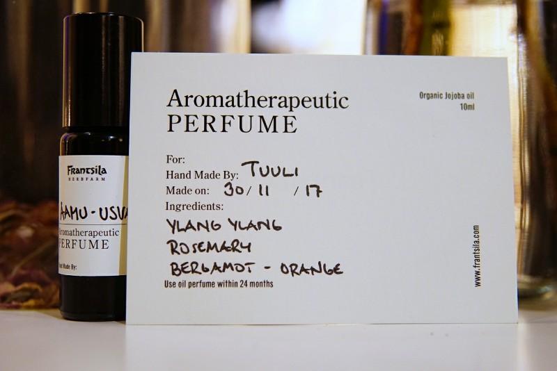 Frantsila eteeriset öljyt parfyymityöpaja
