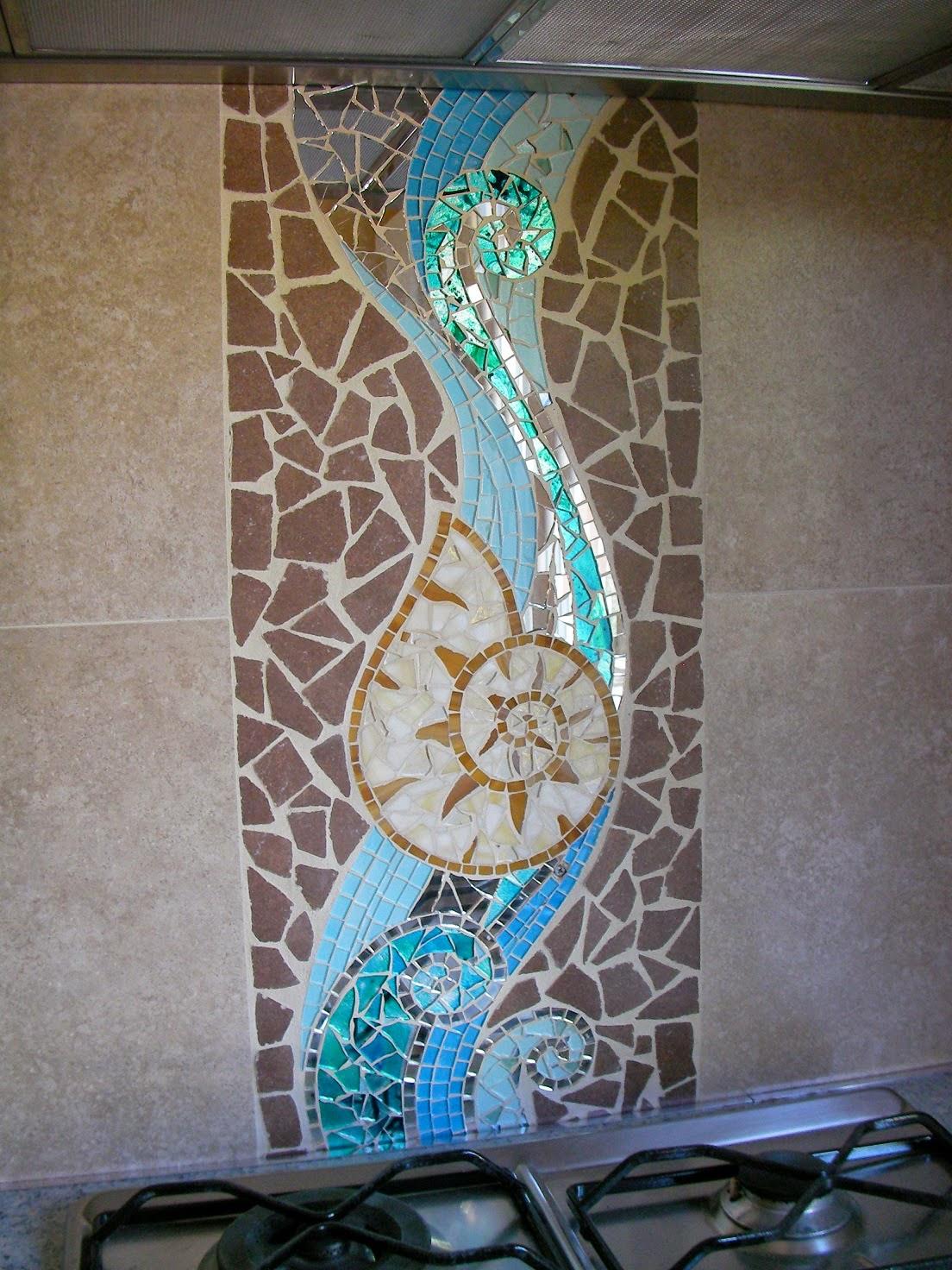 Mosaico a parete for Parete a mosaico