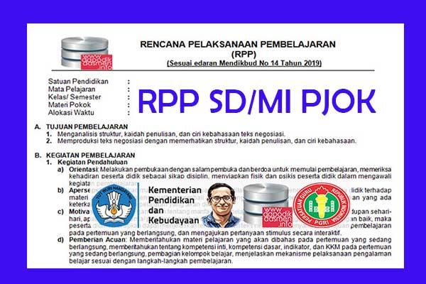 RPP 1 Lembar PJOK SD/MI Semester 2, Download RPP 1 Halaman PJOK Kurikulum 2013 SD/MI Semester 2 Revisi Terbaru, RPP dan Silabus PJOK 1 Halaman Semester 2 SD/MI Kelas 1 2 3 4 5 6
