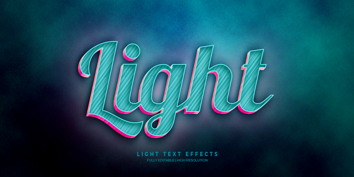 Light 3D Text Effect Generator And Text Style Effect