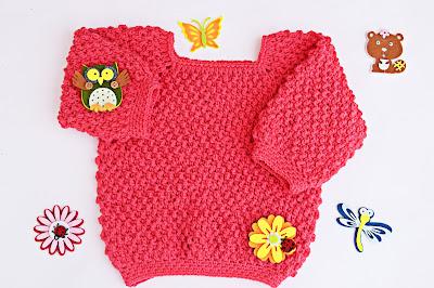 5 - Crochet Imagen Jarsey de nina a crochet muy rapido y sencillo por Majovel Crochet