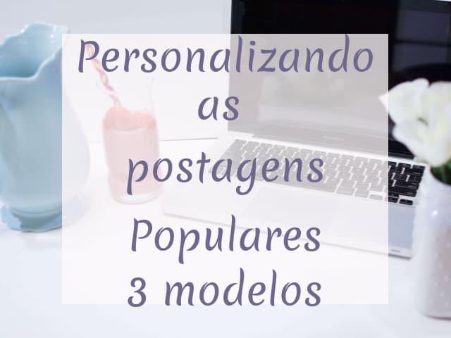 personalizando postagens populares
