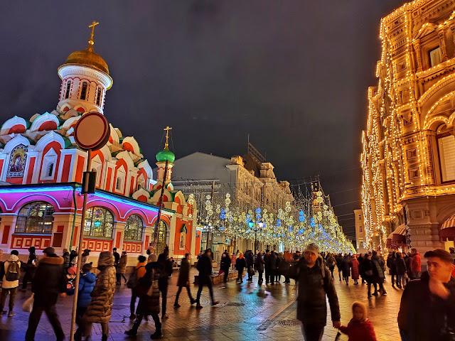 Novi-God in a Moscow Street