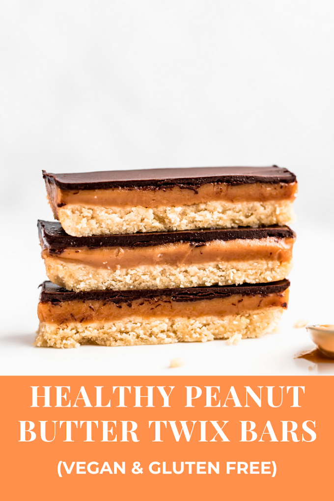 Healthy Peanut Butter Twix Bars (vegan & gluten free)