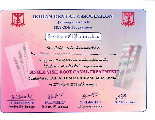 Single Visit Root Canal Treatment Workshops by Dr. Ajit Shaligram at Jamnagar
