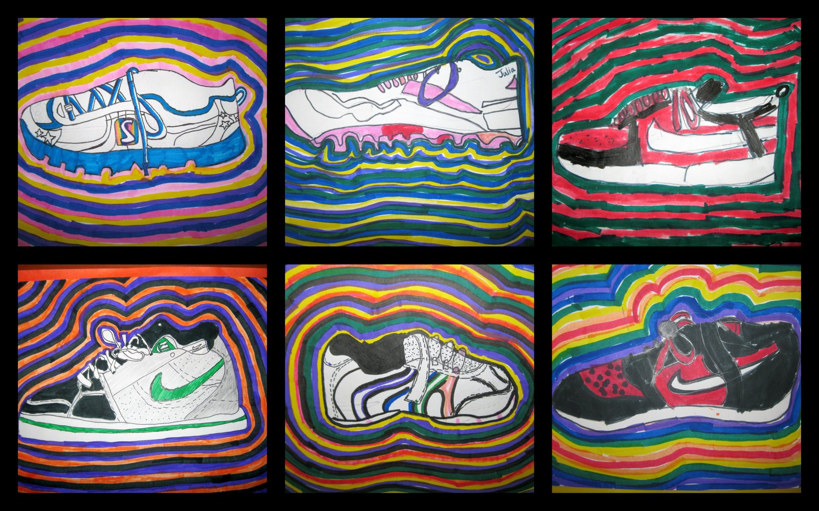 The Art Room 4th Grade Shoe Drawings