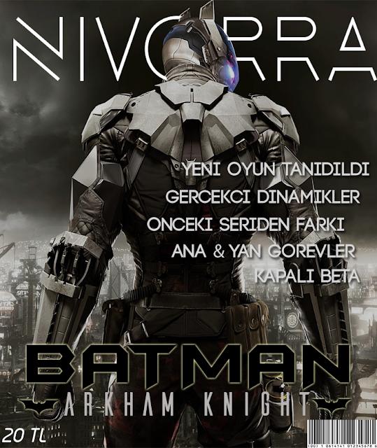 Batman Oyun Dergi Kapağı Tasarımı