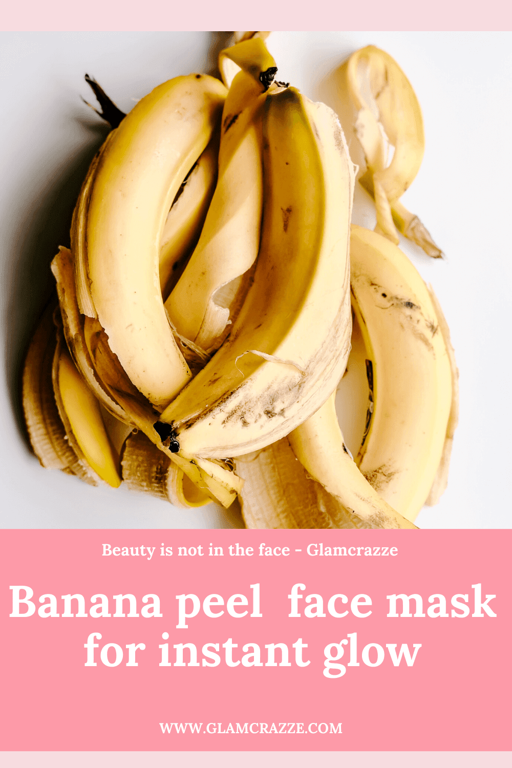 homemade face pack for instant glow and fairness by rubbing banana peel