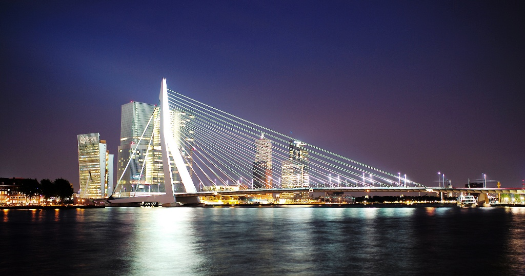 The World Live Erasmusbrug Rotterdam Live Webcam Erasmus