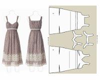 patrón de vestido de verano romántico