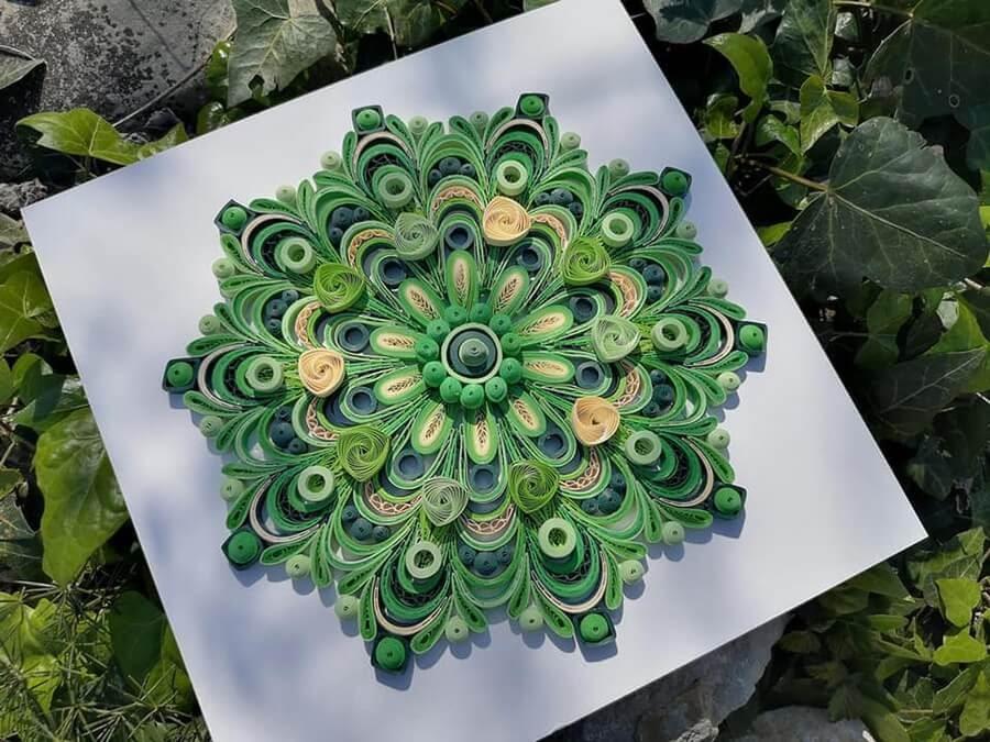 04-Green-and-Yellow-Mandala-Quilling-Branka-Miletić-www-designstack-co