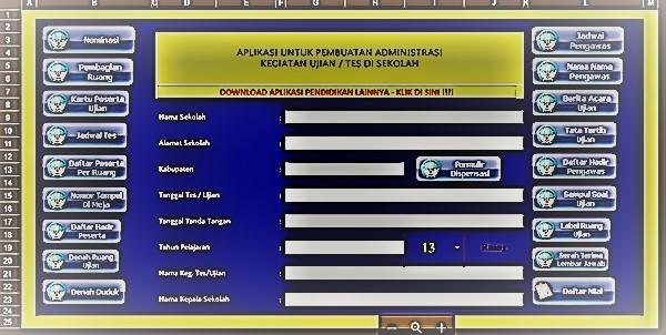 Aplikasi Pembuat Kelengkapan Administrasi Ujian Sekolah di SMP