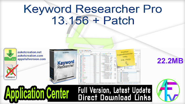 Keyword Researcher Pro 13.156 + Patch