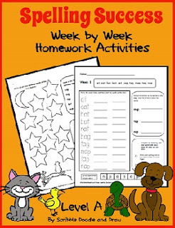 Printable spelling worksheets for kindergarten and grade 1