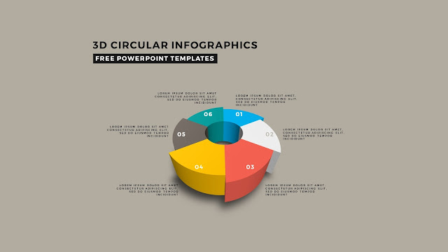 3D Circular Infographic Free PowerPoint Template Slide 6