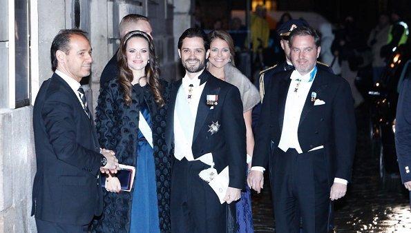 Queen Silvia, Princess Victoria, Prince Daniel, Prince Carl Philip, Princess Sofia, Princess Madeleine and O'Neill