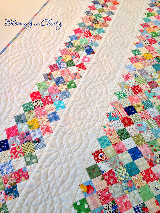 Quilting Cables without Free Motion Quilting Tutorial by Rahna Summerlin of Blooming in Chintz
