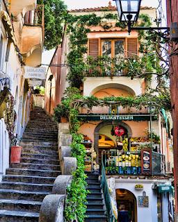 Positano Streets Amalfi Coast Italy