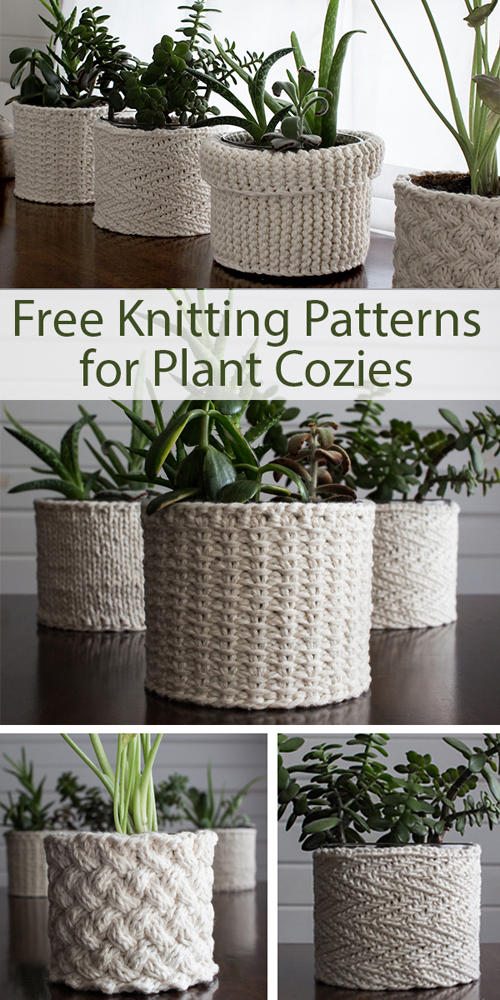 Plant Cozies - Free Knitting Patterns