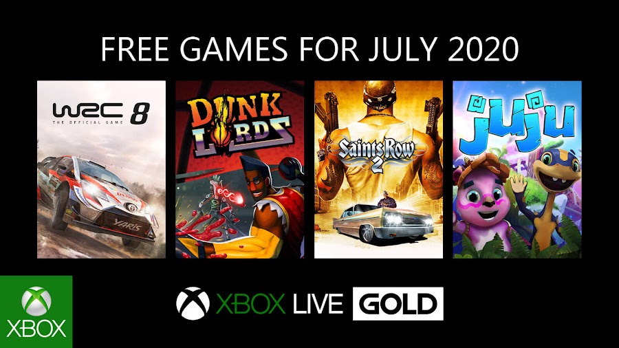 xbox live gold free games july 2020 wrc 8 fia world rally championship dunk lords saints row 2 juju xb1